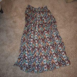 Free People Rainbow Maxi Skirt